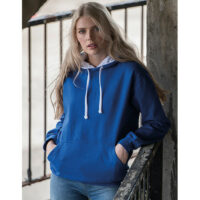 Varsity hoodie blauw-wit